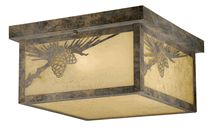 Pinecone Cabin Outdoor Flush Mount Ceiling Light