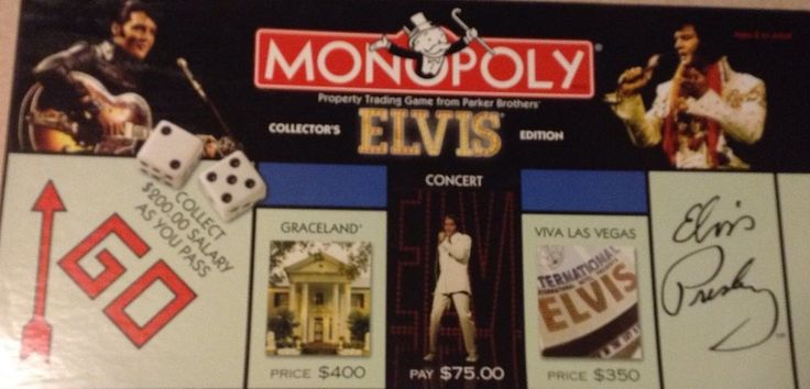 Elvis Collectors Edition Monopoly Pewter Tokens TCB Elvis Presley  #ParkerBrothers
