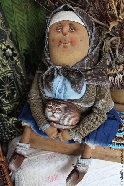Коллекционные куклы ручной работы. Ярмарка Мастеров - ручная работа. Купить Бабулечка. Handmade. Примитив, текстильная кукла, синтепух