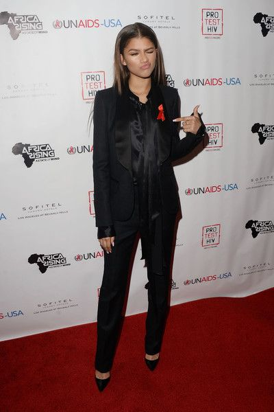 Zendaya Coleman arrives at the Inaugural World AIDS Day Benefit.