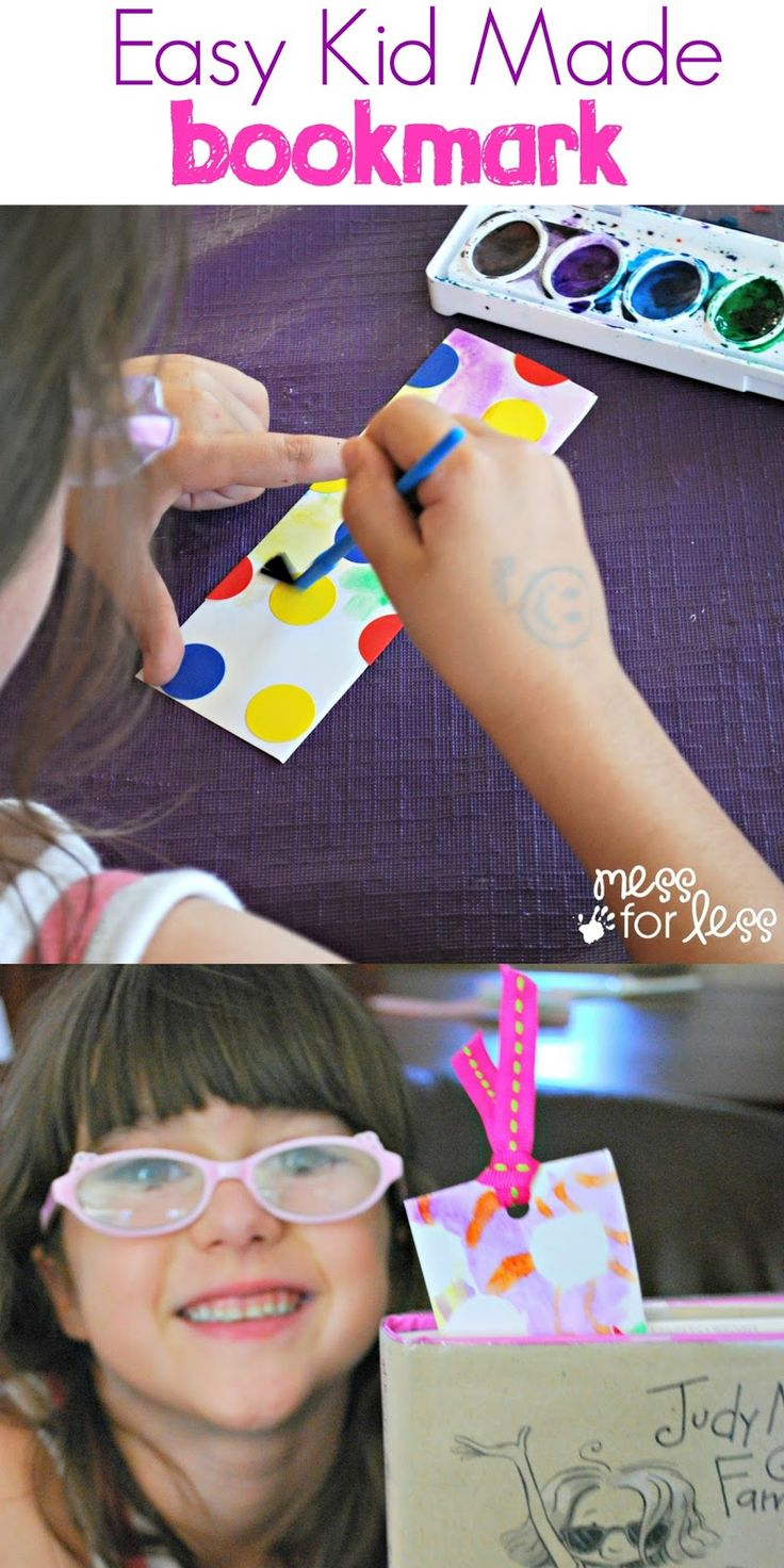 Watercolor bookmark patterns - Easy Kid Made Bookmark