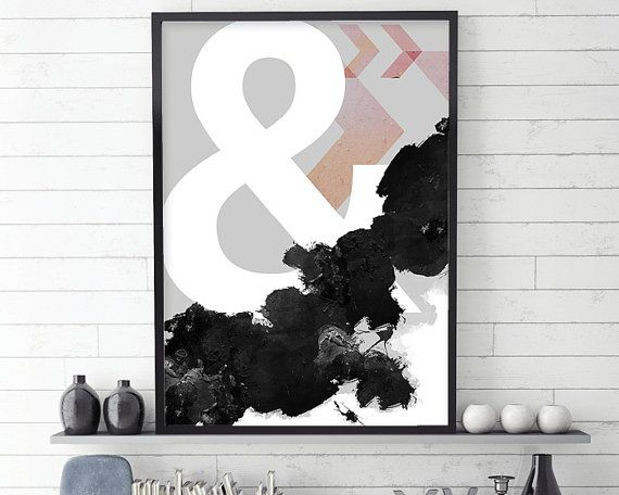 Ampersand, Ampersand Poster, Scandi Abstract, Abstract Poster, Abstract Design, Scandinavian Modern, Scandi Print, Scandi Art, Scandinavian