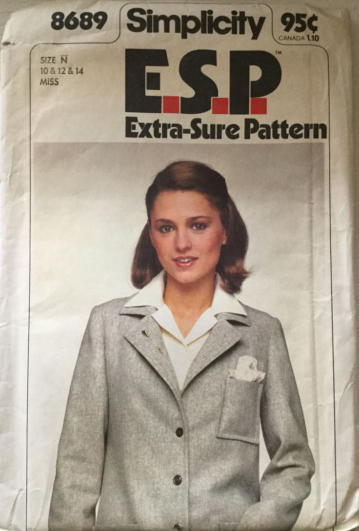 35 best creative concepts images on pinterest creative factory simplicity 8689 misses vintage esp buttoned jacket size n 10 12 14 simplicity sewing patternssew patternenvelopes jeuxipadfo Gallery