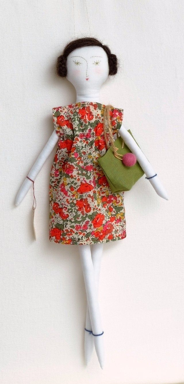 """Odette"" cloth doll by Loop Dolls, Japan~Image via Mec Loup, 2015."
