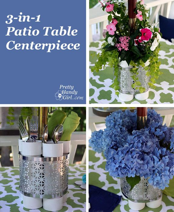 3-in-1 Patio Table Centerpiece: Planter, Vase, and Serving Station by Pretty Handy Girl #LowesCreator