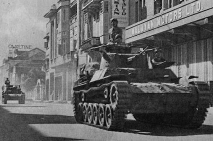 Jap tanks in Kuala Lumpur