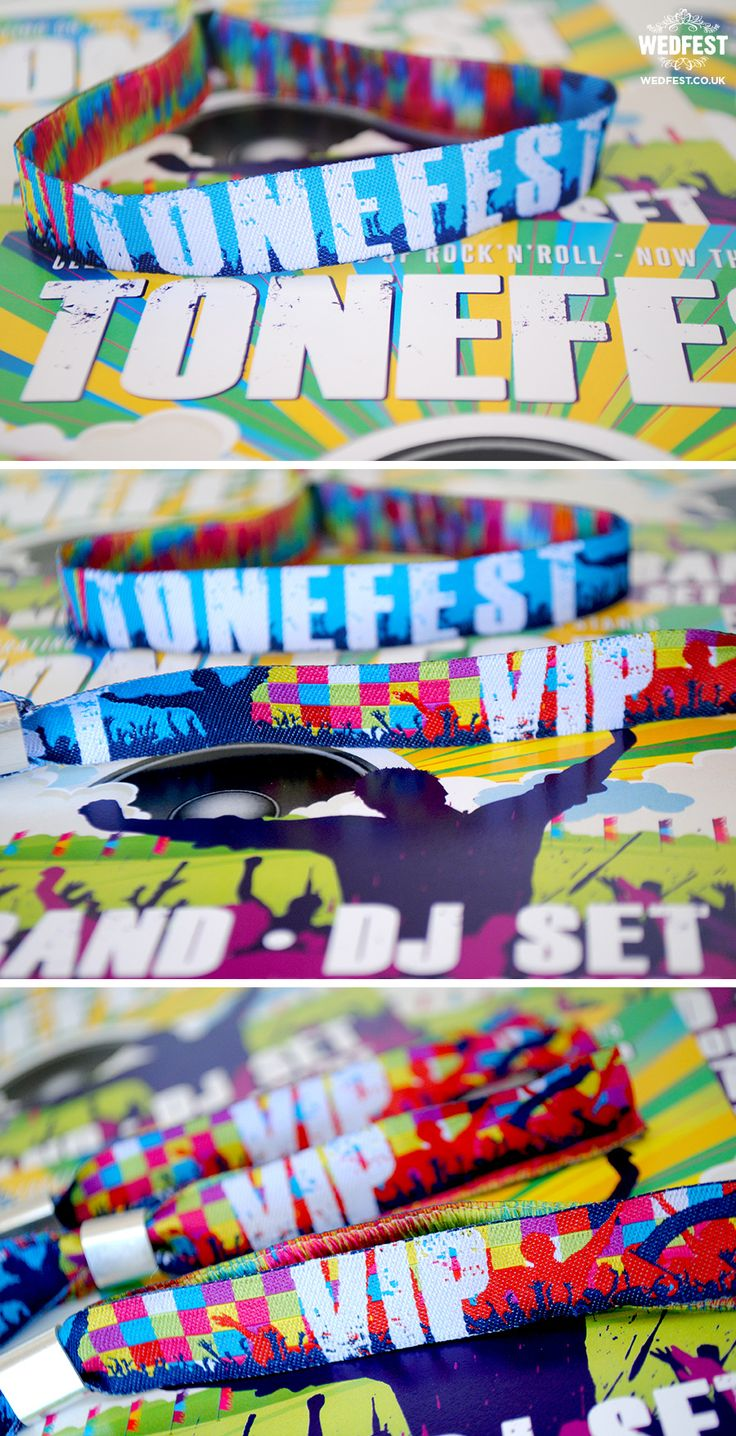 festival birthday party wristbands invites http://www.wedfest.co/festival-themed-birthday-party-invites-wristbands/
