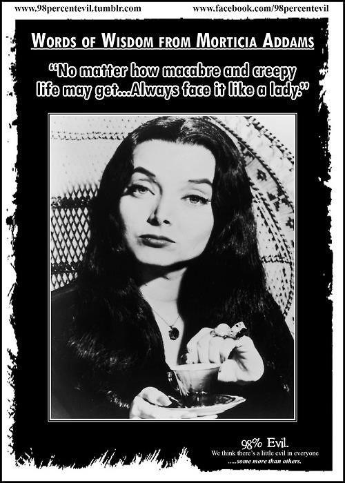 Morticia Addams Quotes Via Danielle Glispey Television