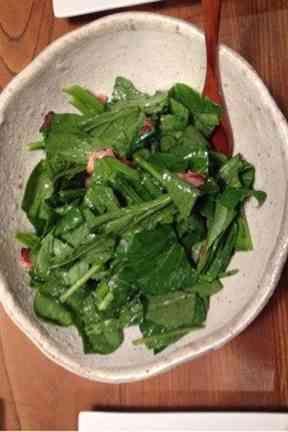 生で食べる酵素!小松菜サラダ