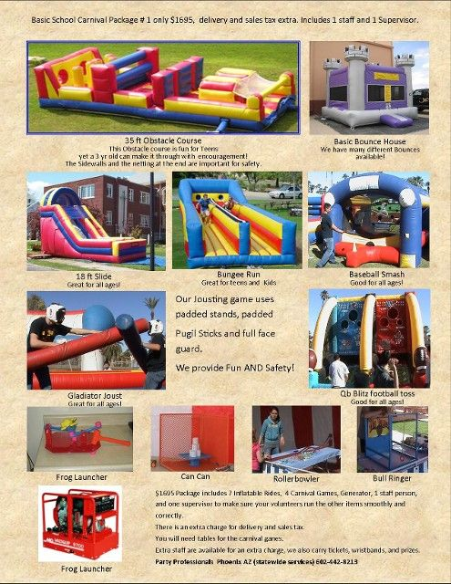 Arizona Party Rental Packages - Party Professionals AZ - Basic Package # 1 for $1995 for out of town events. http://partyprofessionals.com/packages-2/