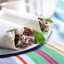 Wraps med rostbiff och soltorkade tomater