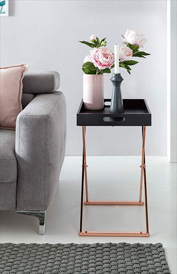Affiliatelink Finebuy Design Beistelltisch Serve Kupfer Schwarz