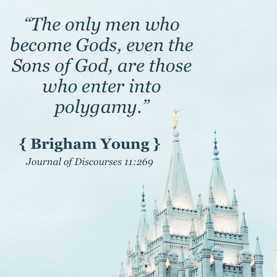 Polygamy is alive and well in the Mormon so-called church.