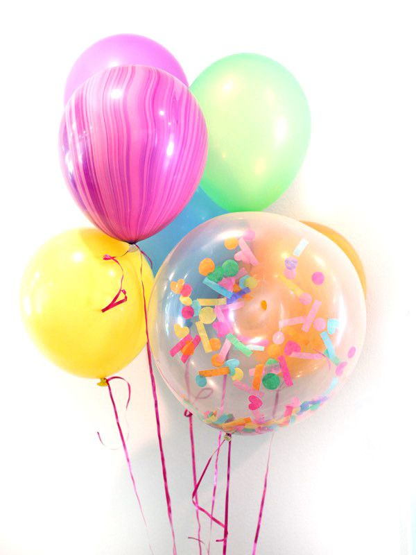 Confetti filled donut balloon donut birthday party theme decorations party supply decoration