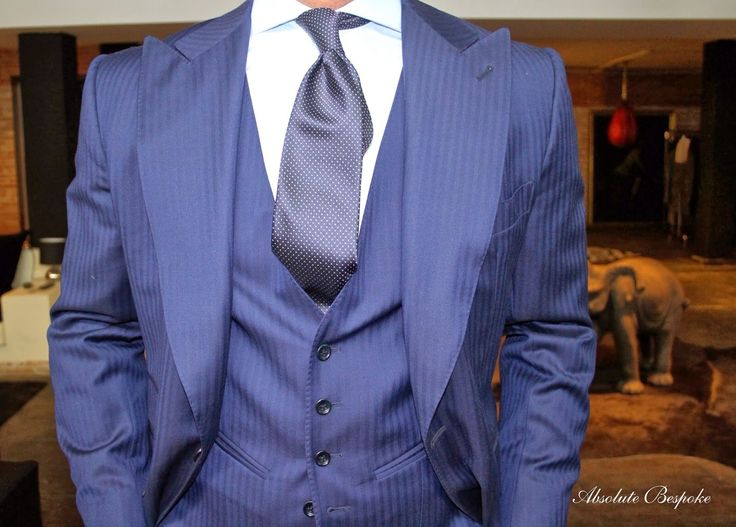 Herringbone three piece suit and New York tie all by @absolutebespoke www.absolutebespoke.com