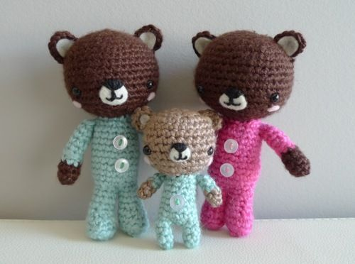 P.J. Teddy Bears. This site has several adorable (and FREE) patterns.