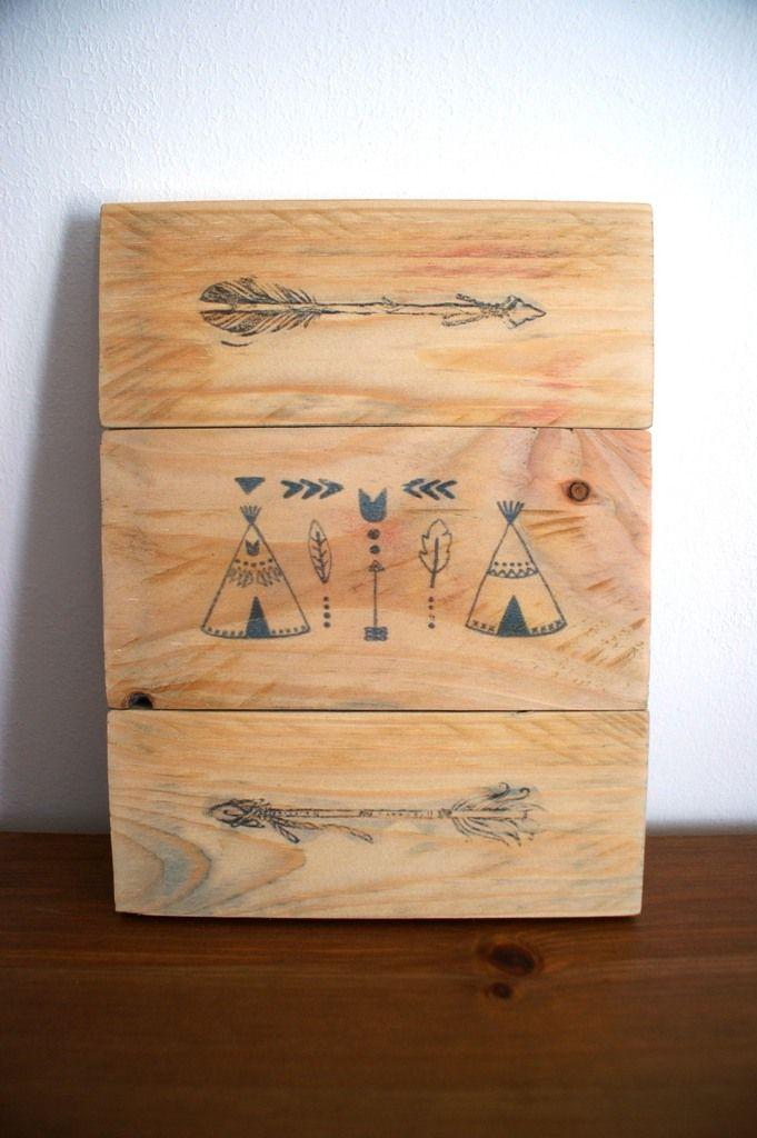 Transfert d'image sur bois de palette