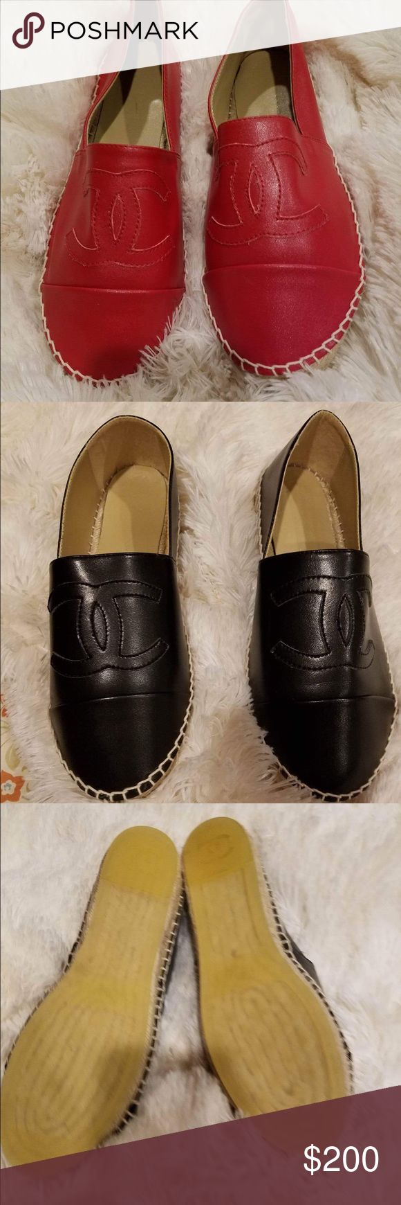 Chanel espadrilles Brand new espadrilles Chanel price reflects auth! $200 each CHANEL Shoes Espadrilles