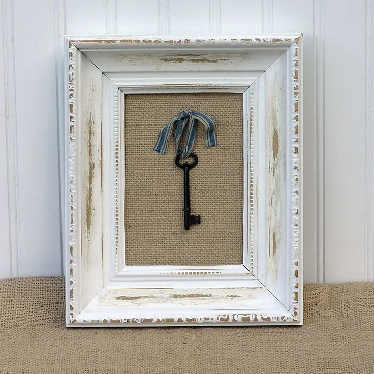 Beach Cottage Style Framed Skeleton Key. $19.99, via Etsy.