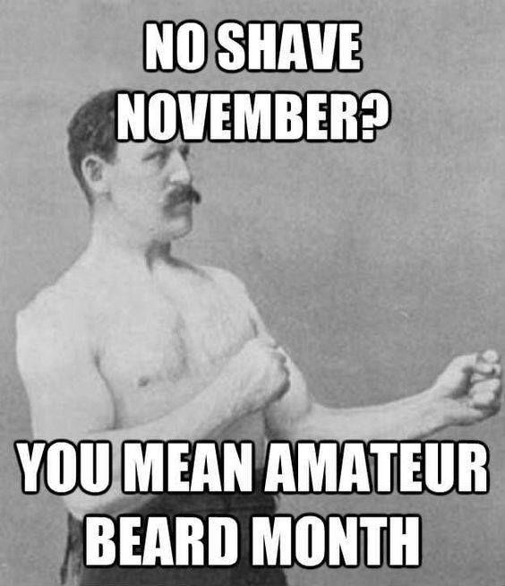 No Shave November You Mean Amatuer Beard Month Funny Beard Memes