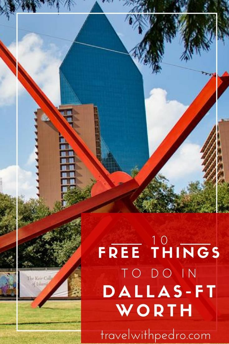 Hot tips on things to do in Dallas-Ft Worth for free. Great if you're travelling on a budget - of course!