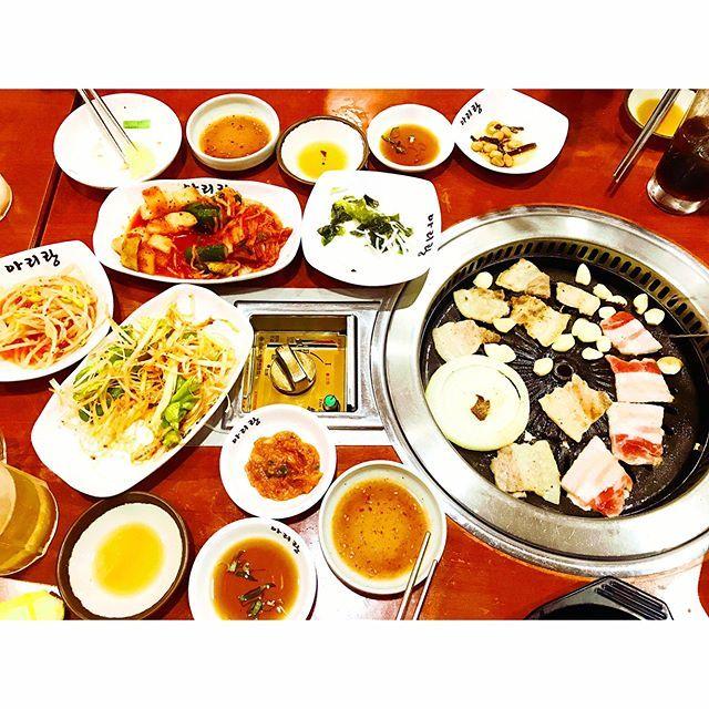 めっちゃ美味しい韓国料理屋さん🍻🥓🥗 #大阪 #韓国 #韓国料理 #商店街 #楽しい #美味しい #感激 #肉 #ホルモン #プルコギ #チヂミ #生ビール #最高 #また行きたい