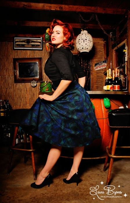 she's such a beautiful model. Love this skirt too! pinupgirlclothing.com