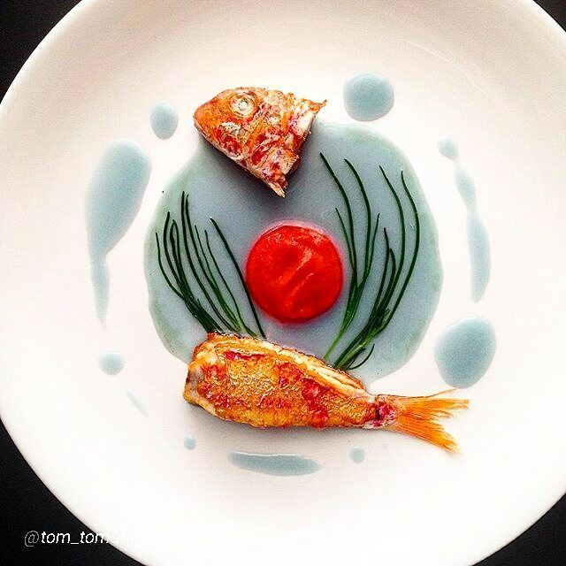 4747 best gourmet images on pinterest food plating food by red mullet red cabbage ginger infusion fandeluxe Image collections