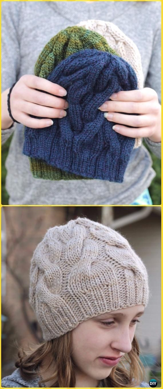 Knit Skalbagge Cabled Hat Free Pattern - Knit Beanie Hat Free Patterns