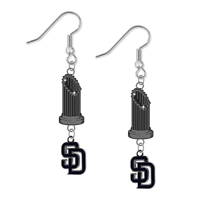 San Diego Padres MLB World Series Trophy Dangle Earrings – SportsJewelryProShop