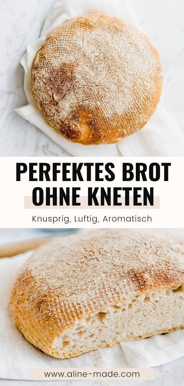 Brot ohne Kneten (No Knead Bread Rezept)  Aline Made in 8