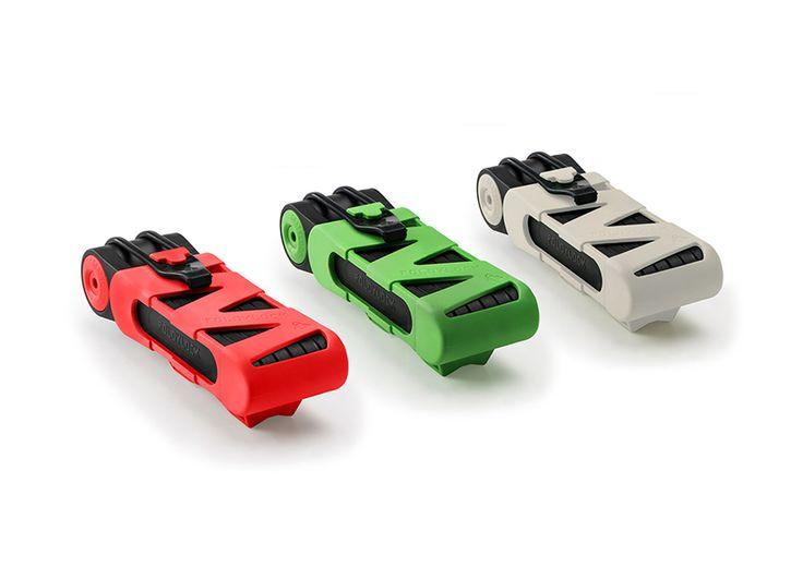 Foldylock, candado para bicicleta plegable de alta seguridad Candado hecho de eslabones de acero endurecido, remaches y un cilindro anti perforación protegido, es muy resistente a robos y fácil de transportar