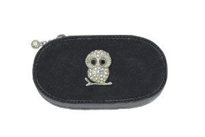 Silver Owl Small Make up Brush Case Set of 5 Brushes by Spring Street. $29.50. The case contains 5 brushes and measures about 4 ¼ inches.. The Owl Charm is decorated with crystals.. Make up Brush case with an Owl charm.. A great compact way to take your beauty tools with you for everyday or for travel.. Silver Owl Small Make up Brush Case Set of 5 Brushes. Make up Brush case with an Owl charm.  The case contains 5 brushes and measures about 4 ¼ inches.  The Owl Charm...