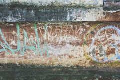 Old wall with paintings Royalty Free Stock Photos