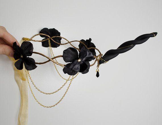 Black Unicorn Crown  headpiece