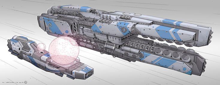 Drone Assisted Light Speed , Mathieu Latour-Duhaime on ArtStation at https://www.artstation.com/artwork/5wPEz