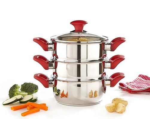 Russell Hobbs 3-Tier Steamer - 3 Tier Steamer , Glass Lid With Vent