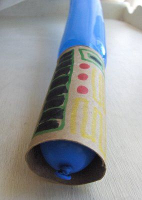 oilet paper rolls  twisty balloons - make sure they are new, old balloons are weak and pop easily  markers and stickers - for decoration  balloon pump