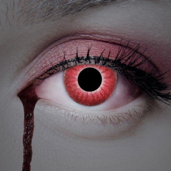 Rote Kontaktlinsen Feuer, Farblinsen Anime, Halloween Kontaktlinsen