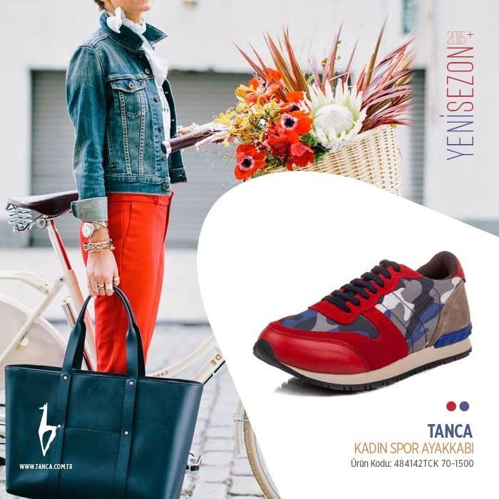 Tanca Kırmızı Mavi Kamuflaj Ayakkabı #tanca #kemaltanca