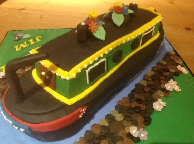 10 Best Canal Boat Cakes Images On Pinterest Boat Cake