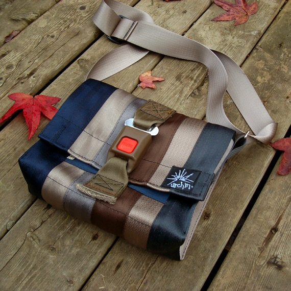 Seatbelt bag Eco friendly bag made from repurposed seat belts