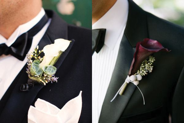 Featured on @Elizabeth Lockhart Anne Designs Friday Flower showase under Calla-Lily-Boutonniere.  Ours is on the Right.  Thank you for the feature!