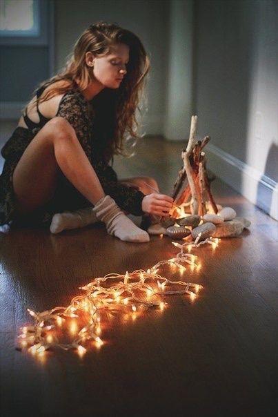Летний костер в квартире / Освещение / Своими руками - выкройки, переделка одежды, декор интерьера своими руками - от ВТОРАЯ УЛИЦА