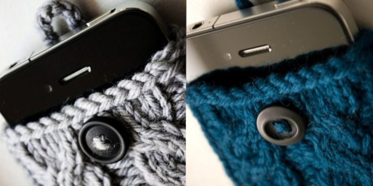 Bescherm je telefoon met een leuk gebreid iPhone hoesje. Met een beetje kennis van breien kan je dit hoesje zelf maken!
