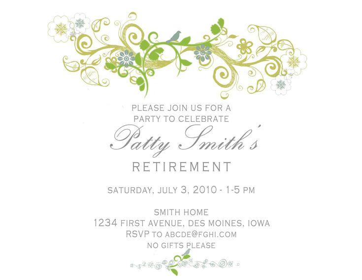 The 25+ best Retirement invitation template ideas on Pinterest - retirement party flyer template