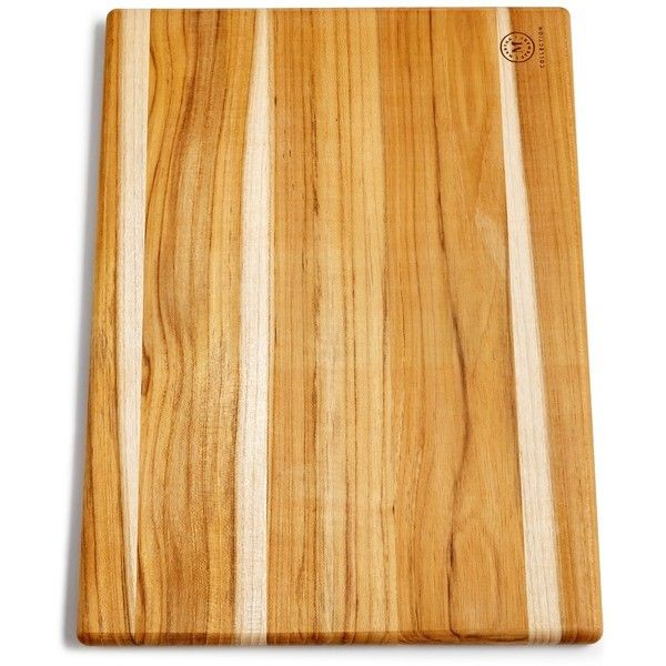 Martha Stewart Collection Teak Wood Cutting Board, Created for Macy's ($30) ❤ liked on Polyvore featuring home, kitchen & dining, kitchen gadgets & tools, no color, teak wood cutting board, rustic cutting board, teak cutting board and martha stewart