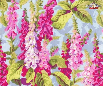 Fox Gloves Spring Cotton Fabric by Philip Jacobs Rowan Westminster