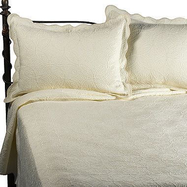 $60 for the set full price, $48 with coupon plus tax   Matelasse Coventry Ivory Quilt Set, 100% Cotton - BedBathandBeyond.com