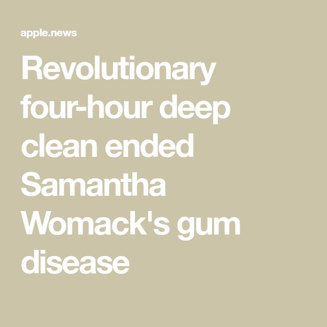 Revolutionary four-hour deep clean ended Samantha Womack's gum disease